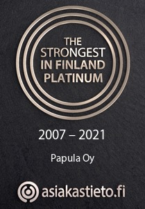 The strongest in Finland -certificate